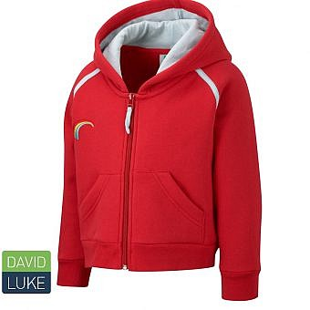 Rainbows Hooded zip top red