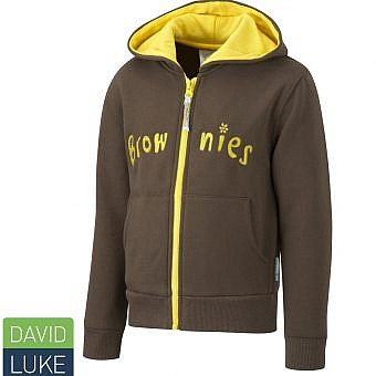 Brownie Hoodie Zip Brown