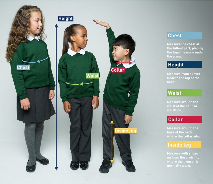 How to measure your child for a school uniform